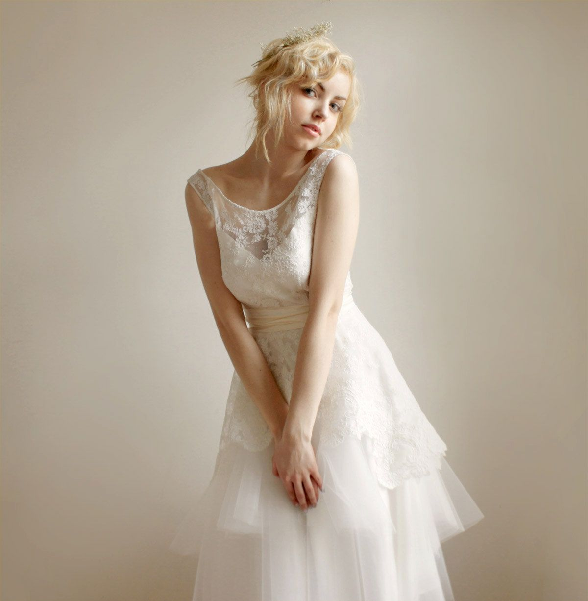 Mathildelace And Tulle Wedding Dress Etsy Exclusive By Leanimal Gorgeous