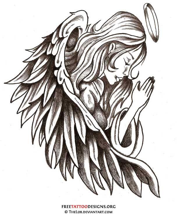 Dessin tatouage ange gardien choses acheter tatouage - Dessin d ange gardien ...