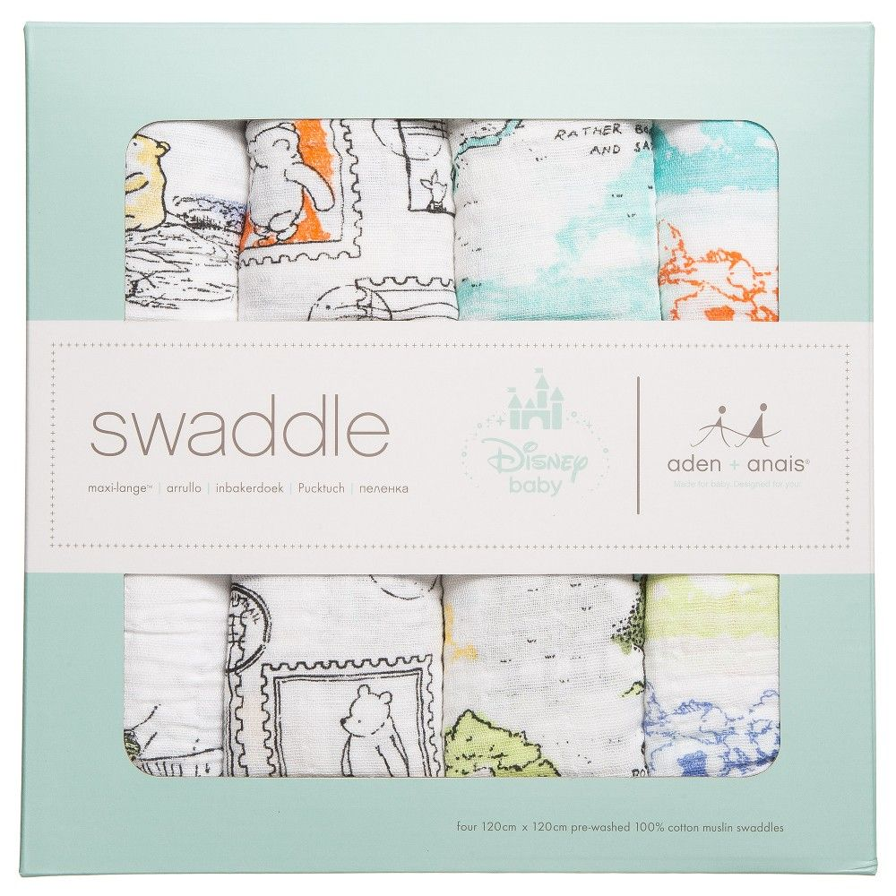 Aden And Anais Swaddle Blankets Extraordinary Aden & Anais  'winnie The Pooh' Muslin Swaddle Blankets Pack Of 4 Decorating Design