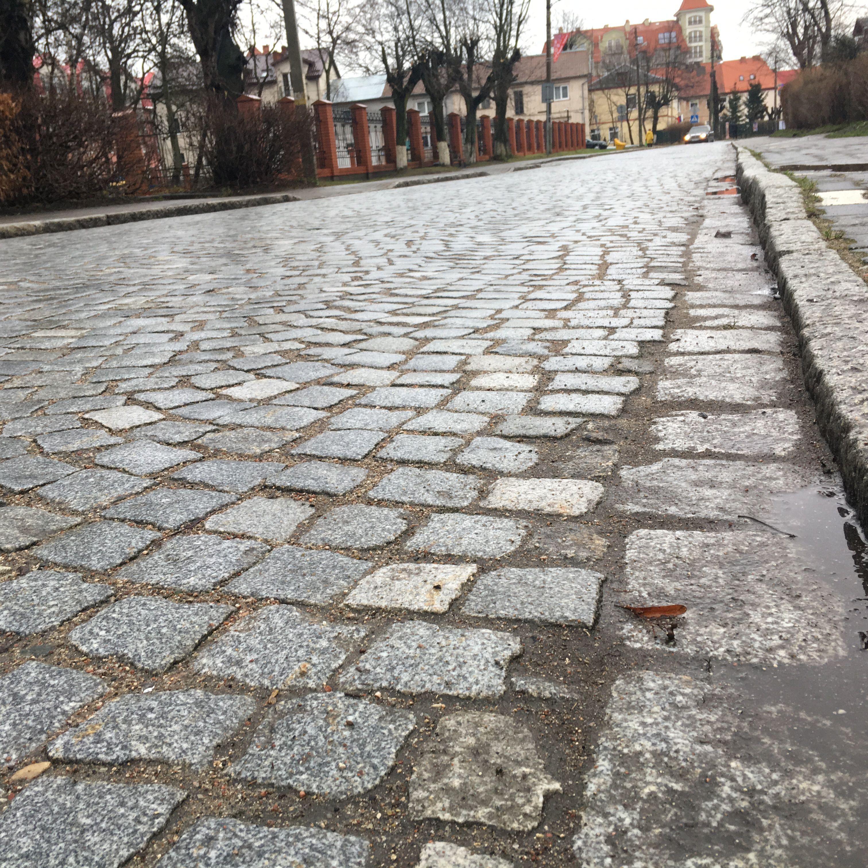 Брусчатка в городе Пионерский