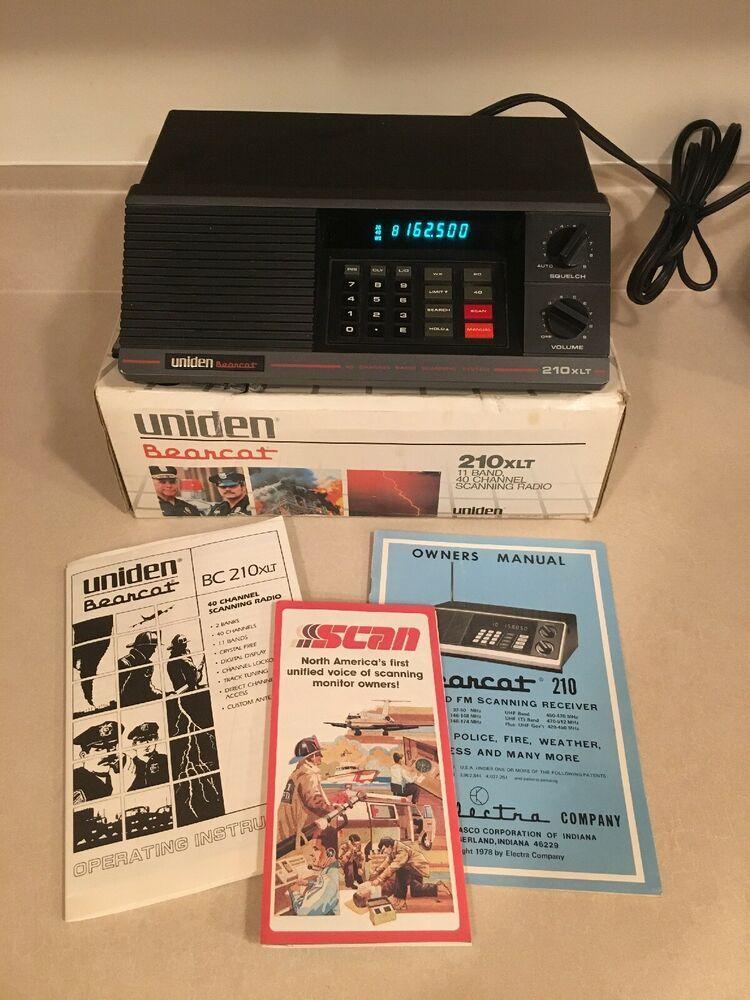 Uniden Bearcat 210xlt 40 Channel Programmable Scanner W Manuals Original Box Ebay Police Radio Shortwave Radio Scanner