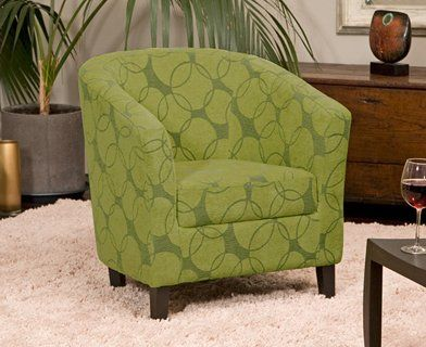 Wonderful Stencil Tub Chairs | Brand New Green Funky Fabric Tub Chair Armchair Seating
