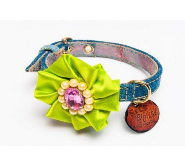 New!! The Green Glam Dog Collar