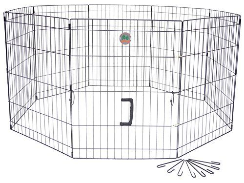 Go Pet Club 24-Inch High Wire Play Pen 8-Panels | Best Dog Houses ...