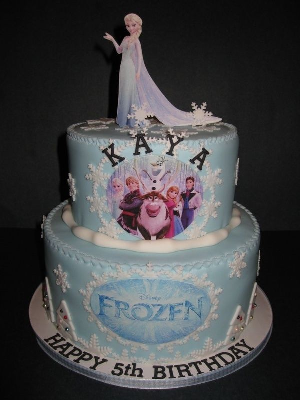 disney's frozen cake | Kaya's Disneys' Frozen Cake
