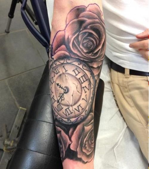 Amazing Clock Tattoo Ideas (9)