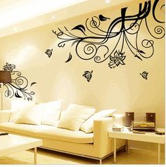 Butterfly Flower   Home Art Removeable Wall Decal Mural Vinyl Sticker Part 27