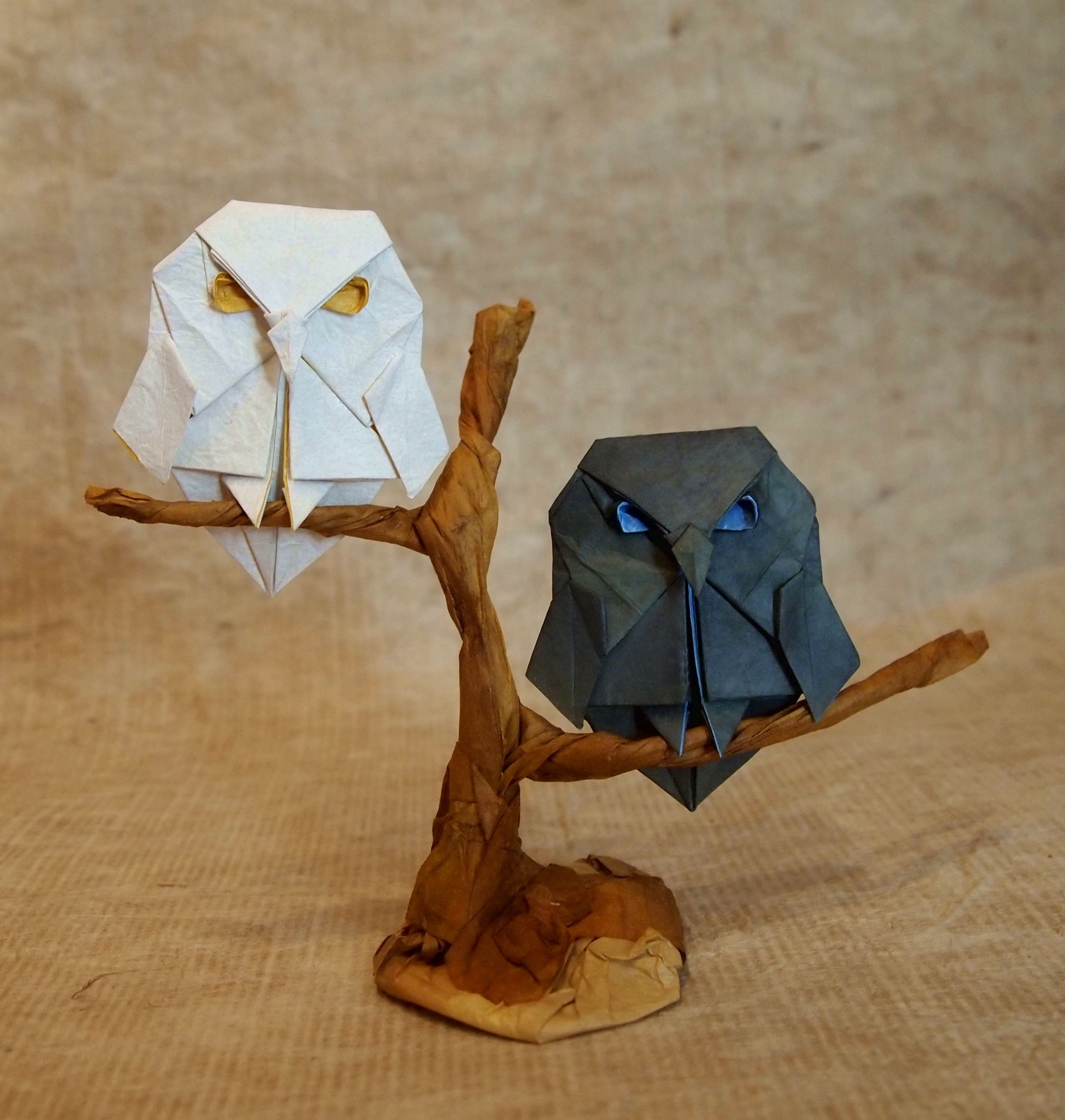 How to make 3D origami Little Owl - YouTube | 2460x2340
