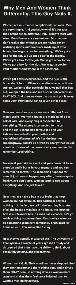 Pretty good analogy I think lol!!
