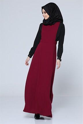 Tesettur Elbise Tozlu Com Elbise Elbise Modelleri Tunik