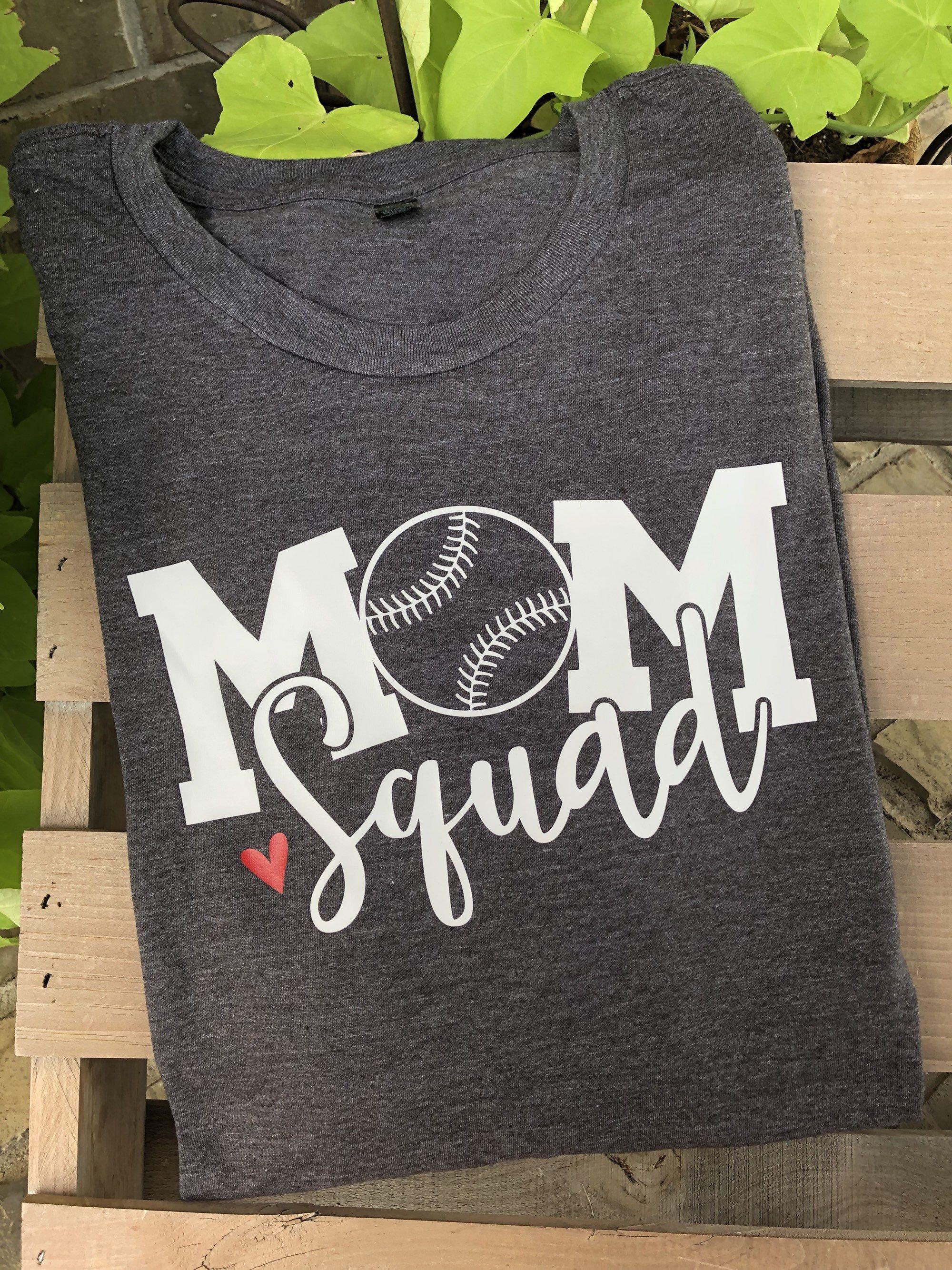 a4da2ead9 Mom squad baseball, baseball mom, baseball shirt, love baseball ...