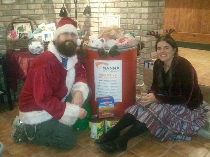 Holiday wine tasting and food drive for Manna Food Bank at the old Studio