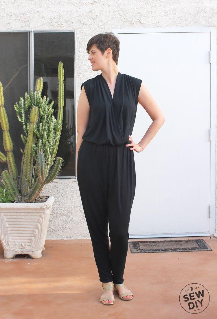 DIY Black Knit Jumpsuit McCall's M7099 – Sew DIY