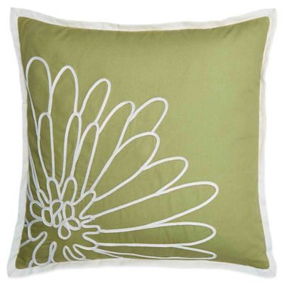 Bed Bath And Beyond Decorative Pillows Endearing Buy Bridge Street Spring Dahlia Square Throw Pillow In Green From Decorating Inspiration