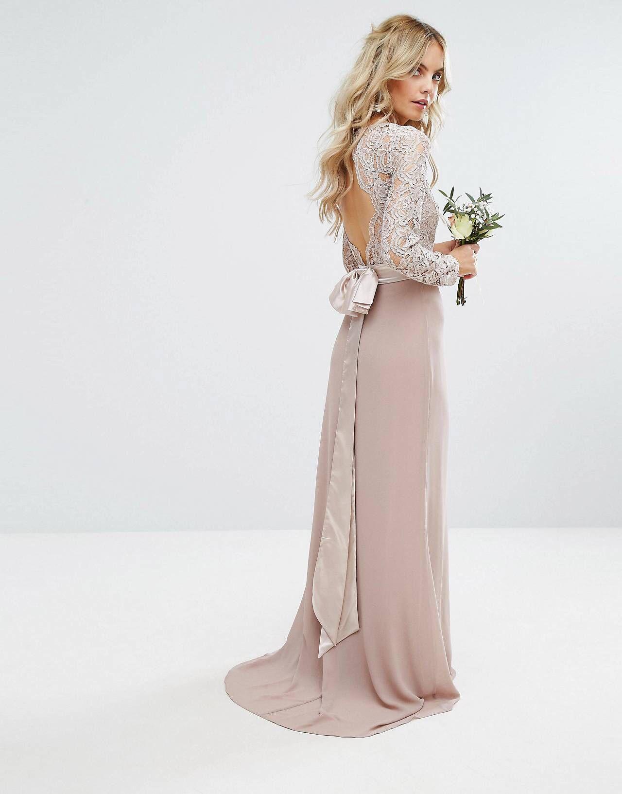 TFNC Petite Wedding Lace Maxi Dress With Bow Back | Shops