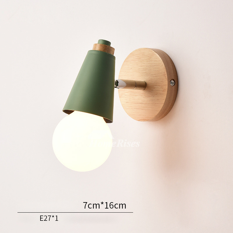 Modern Small Wall Sconces Decorative Metal Wood Kids Lighting In