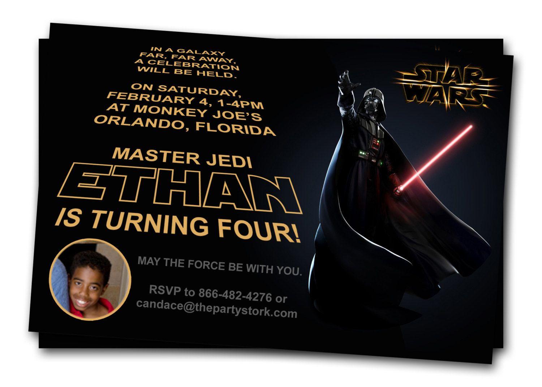 Star Wars Invitations: Printable Darth Vader Boy Birthday Party ...