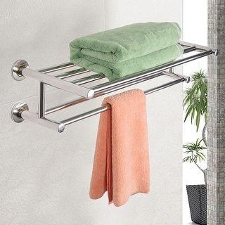 Chrome Wall Mounting Shelf Towel Rack