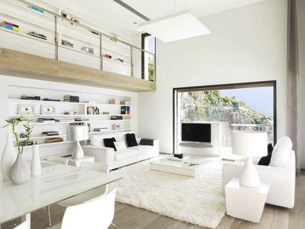 Pur weißes Wohnzimmer und Minimalismus \u2013 20 moderne Wohnideen - moderne luxus wohnzimmer