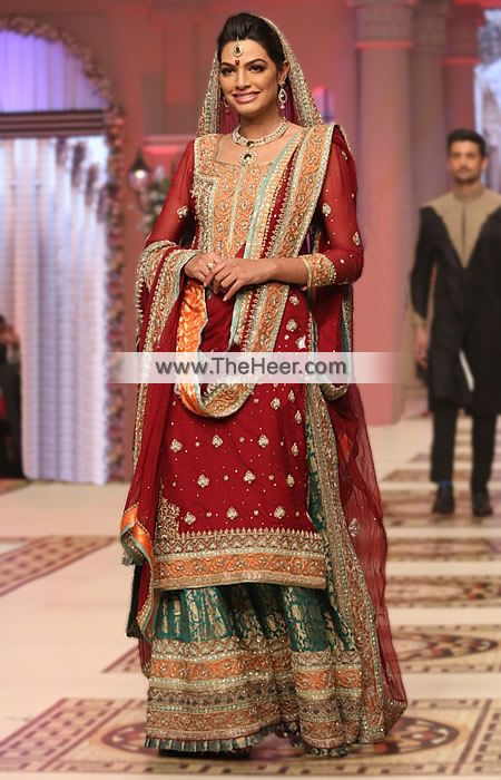 e489c7dddf BW6901 Maroon Skobeloff Crinkle Chiffon Banarasi Jamawar Sharara This  classic bridal sharara is perfect for you if you are looking for attractive  that ...