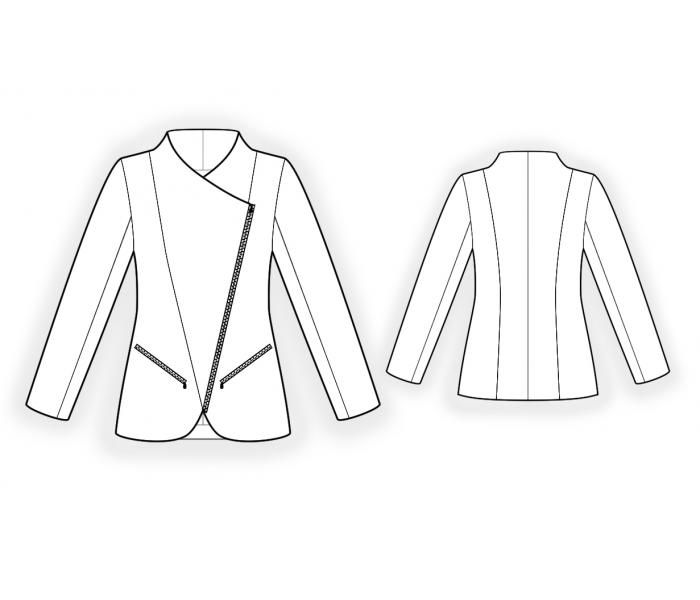 Jacket With Bias Closure - Sewing Pattern #4530 Made-to-measure ...