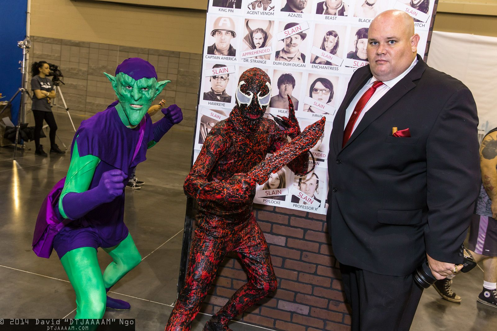 green goblin, carnage, and kingpin #cosplay | phoenix comicon 2014