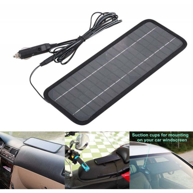 The 4 5w 12v Solar Panel Auto Car Battery Charger Lets You Make Full Use Of Sustainable And Reliabl Solar Panel Battery Solar Panel Charger Car Battery Charger