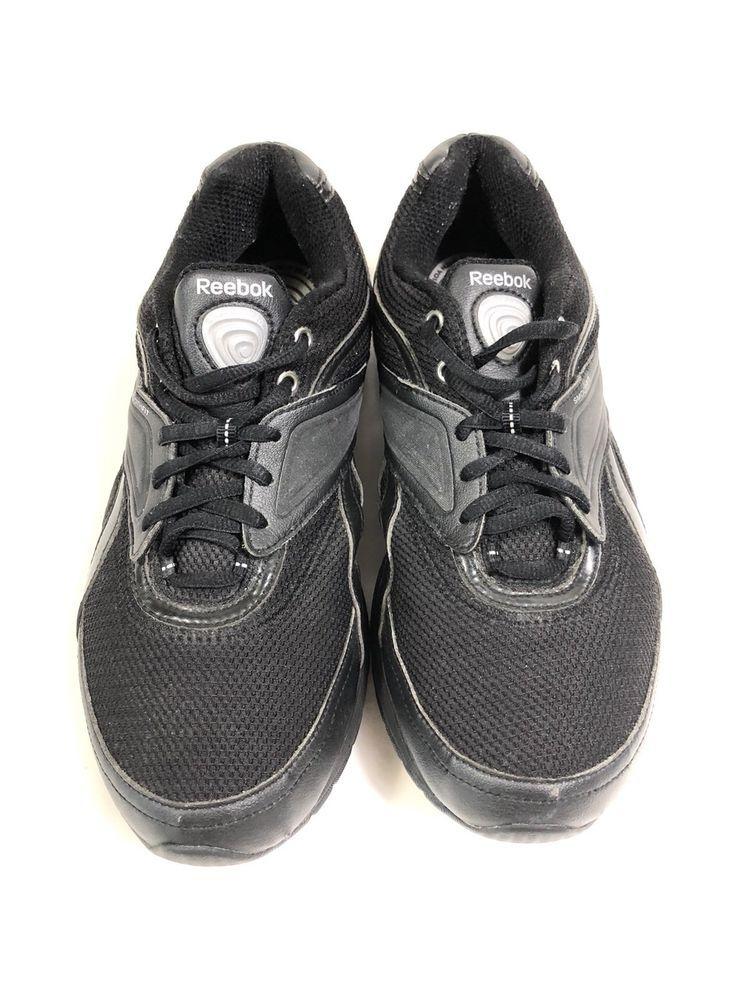 c80764b1aea7 Reebok EasyTone Black Sneakers 9 Lace Up Smooth Fit Womens