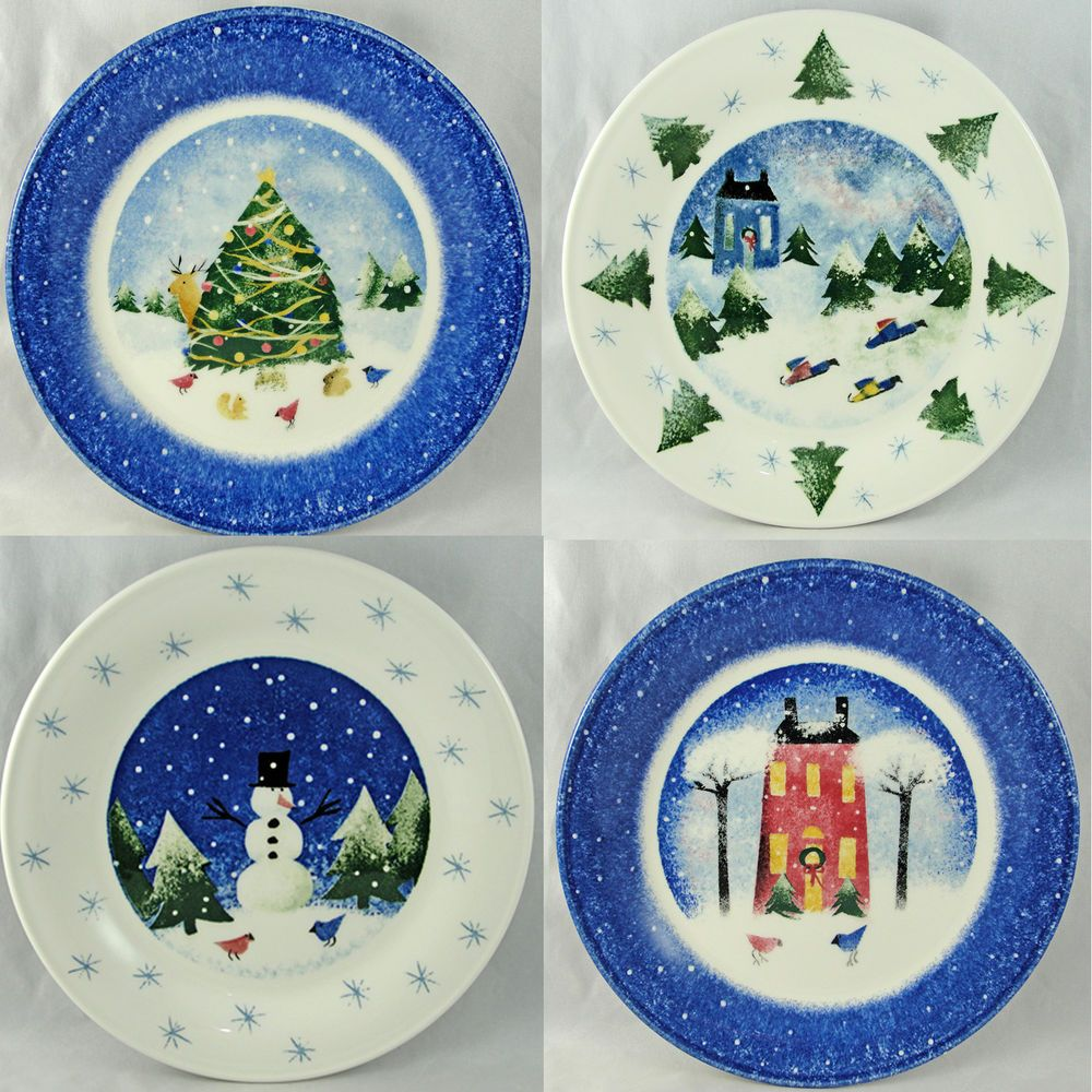 Nikko WINTER WONDERLAND Salad Plate 8 1/8  (Set of 4) #  sc 1 st  Pinterest & Nikko WINTER WONDERLAND Salad Plate 8 1/8