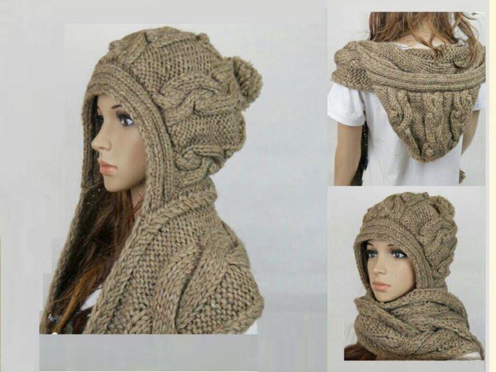 capucha con bufanda | crochet | Pinterest | Tejidos, Croché y Bufandas