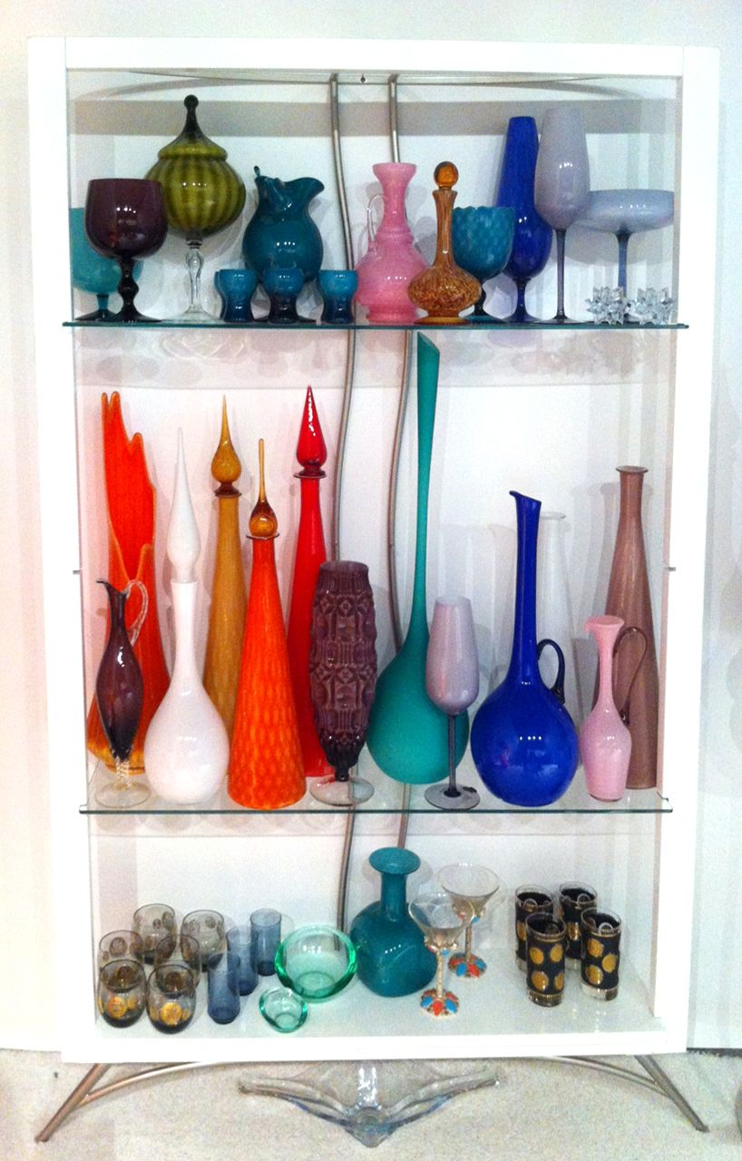 Mid Century Modern Glass Vases