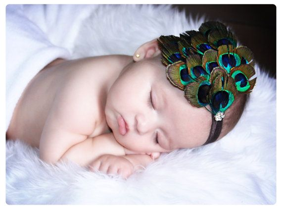 Peacock Feather Headband! This would be my daughters fav headband when I have one ;)