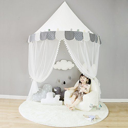 Ciel de Lit avec Moustiquaire Bebe Fille Garcon Tente de Lit