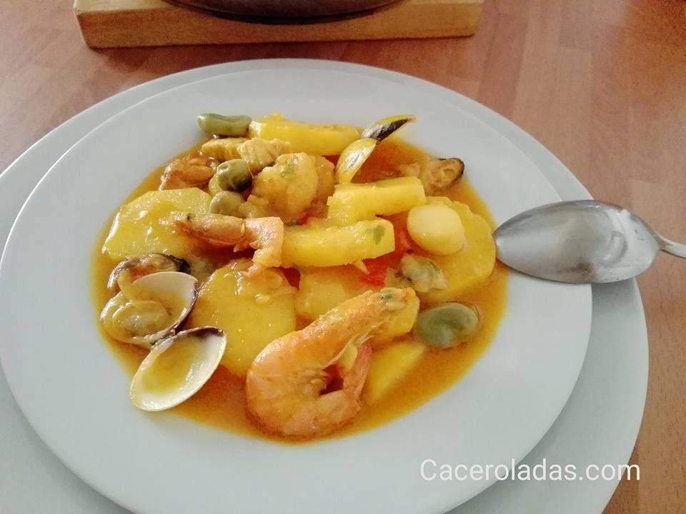 patatas a la marinera Recetas cocina Pinterest Comidas and Food
