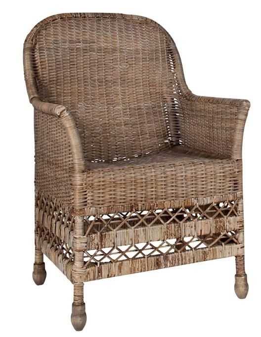 Christelle Woven Rattan Arm Chair Material Rattan Dimensions 23x25x40 H Handmade Indoor Use And Covered Outdoor Dining Arm Chair Armchair Shop Chair