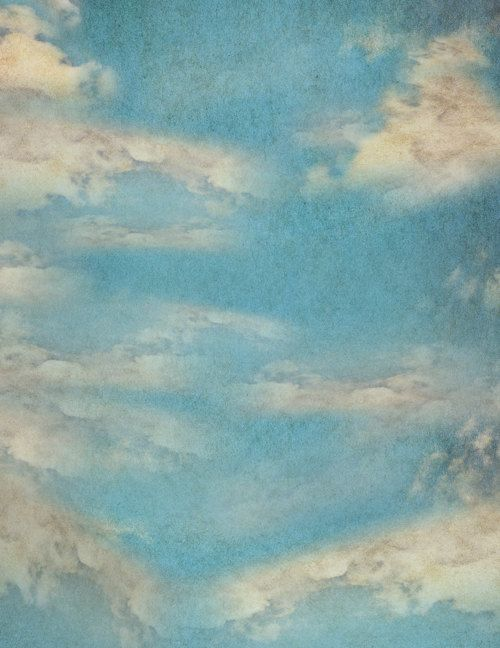 Grunge Painted Sky Wallpaper Backdrop Vintage Clouds Photobooth