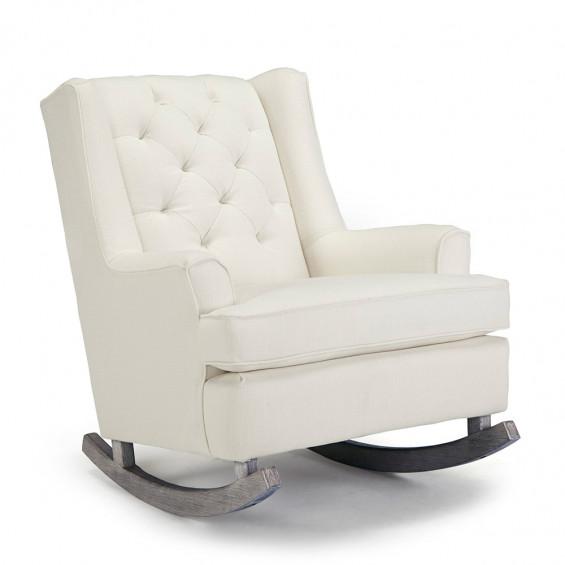 Best Chairs Grayson Rocker Snow Wingback rocking chair