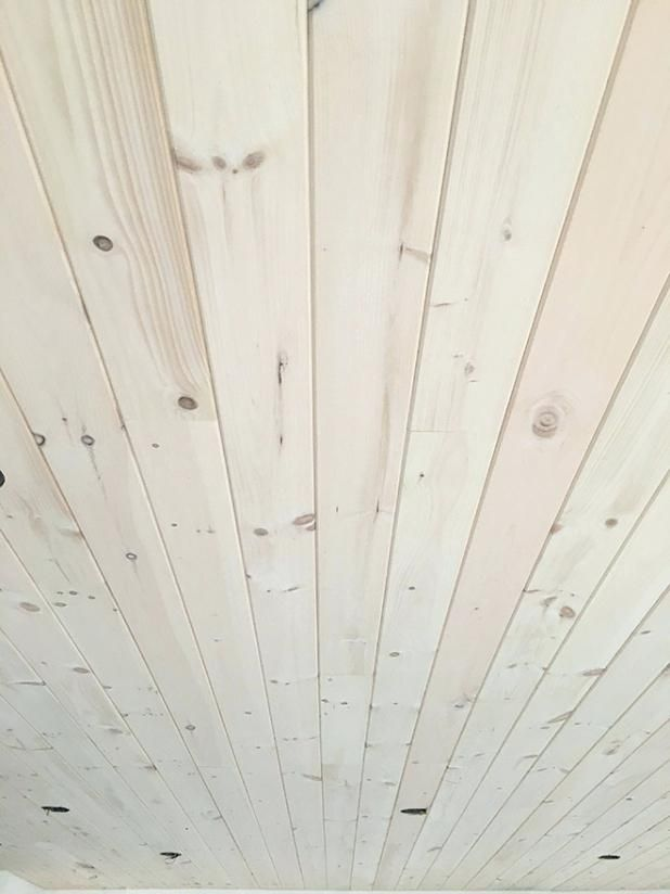 Whitewash Pine Ceiling Real White Washing And Installing
