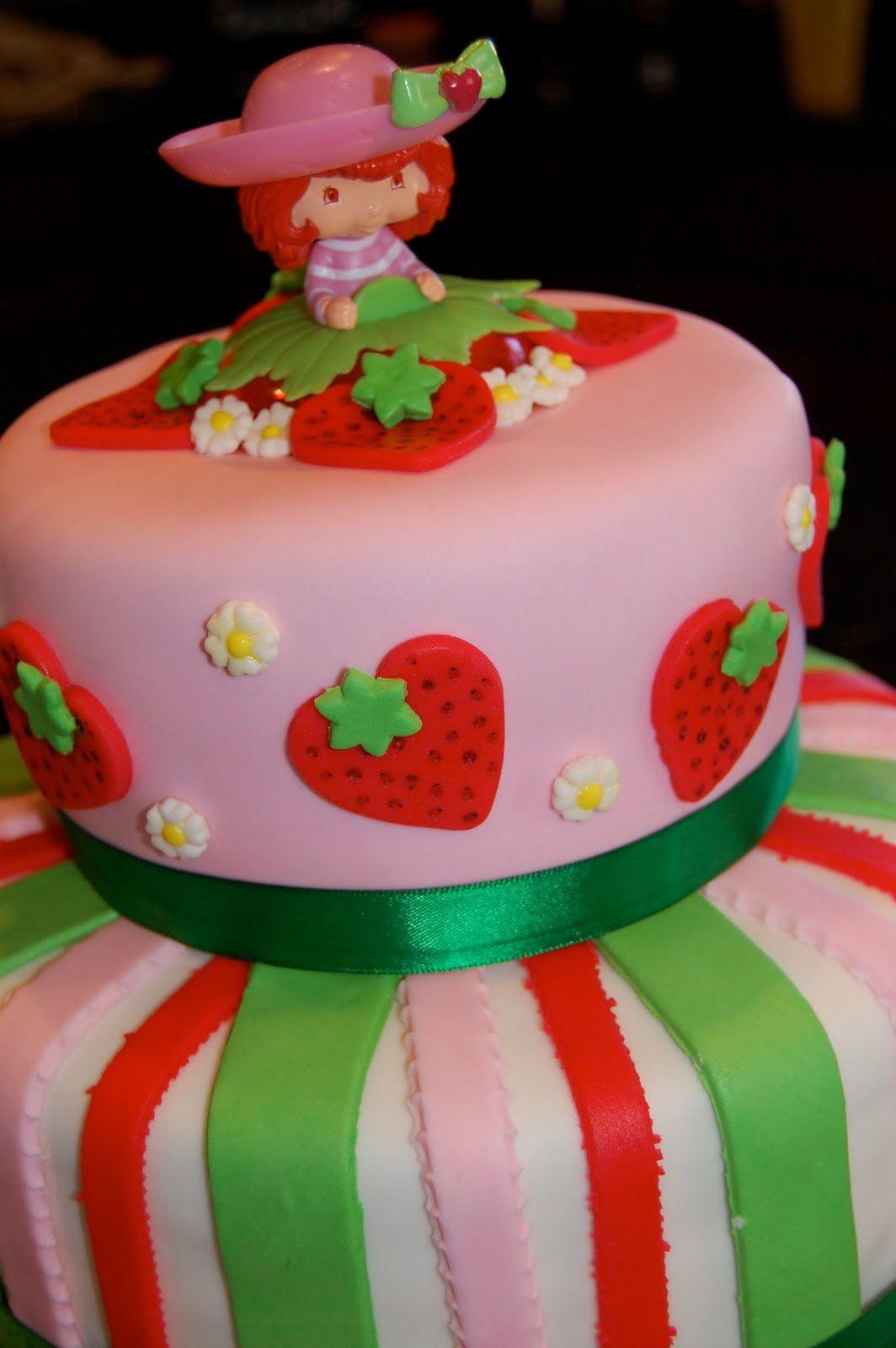 Prime Strawberry Shortcake Cakes For Kids Cakepins Com Shortcake Cake Personalised Birthday Cards Veneteletsinfo