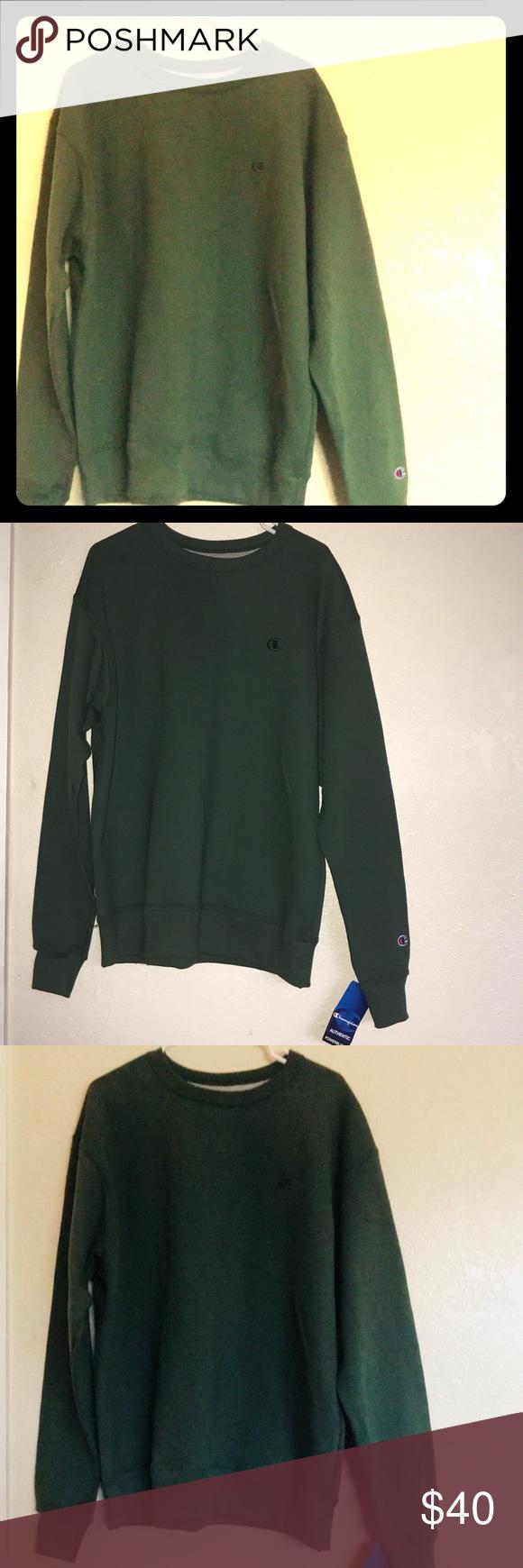 Champion Authentic Crewneck Sweatshirt Crew Neck Sweatshirt Clothes Design Sweatshirts [ 1740 x 580 Pixel ]