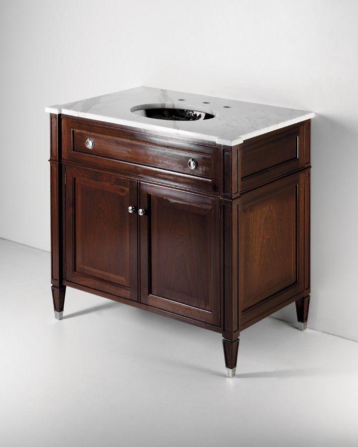 Waterworks Regent Single Wood Vanity With Slab In Mahogany Waterworks Wood Vanity Traditional Bathroom Vanity Bath Furniture