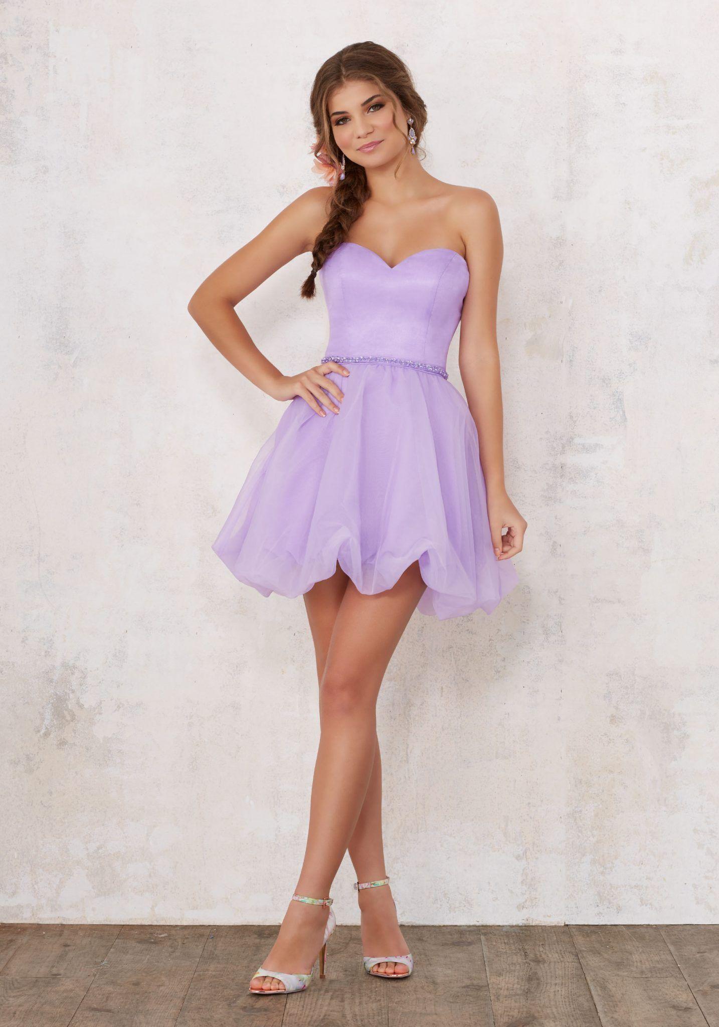 2020 Klos Abiye Elbise Kisa Gece Elbiseleri Eflatun Straplez Kabarik Etek Sade Ve Sik On Bes Yas Partisi Elbiseleri The Dress Quinceanera Dresses