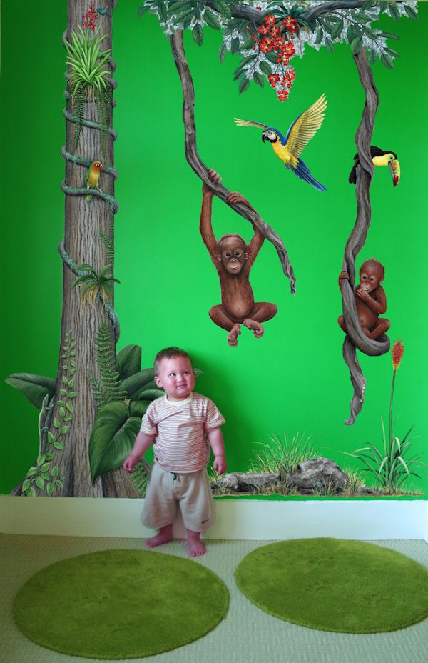 Rainforest Jungle Mural Decal Package   Wall Sticker Outlet
