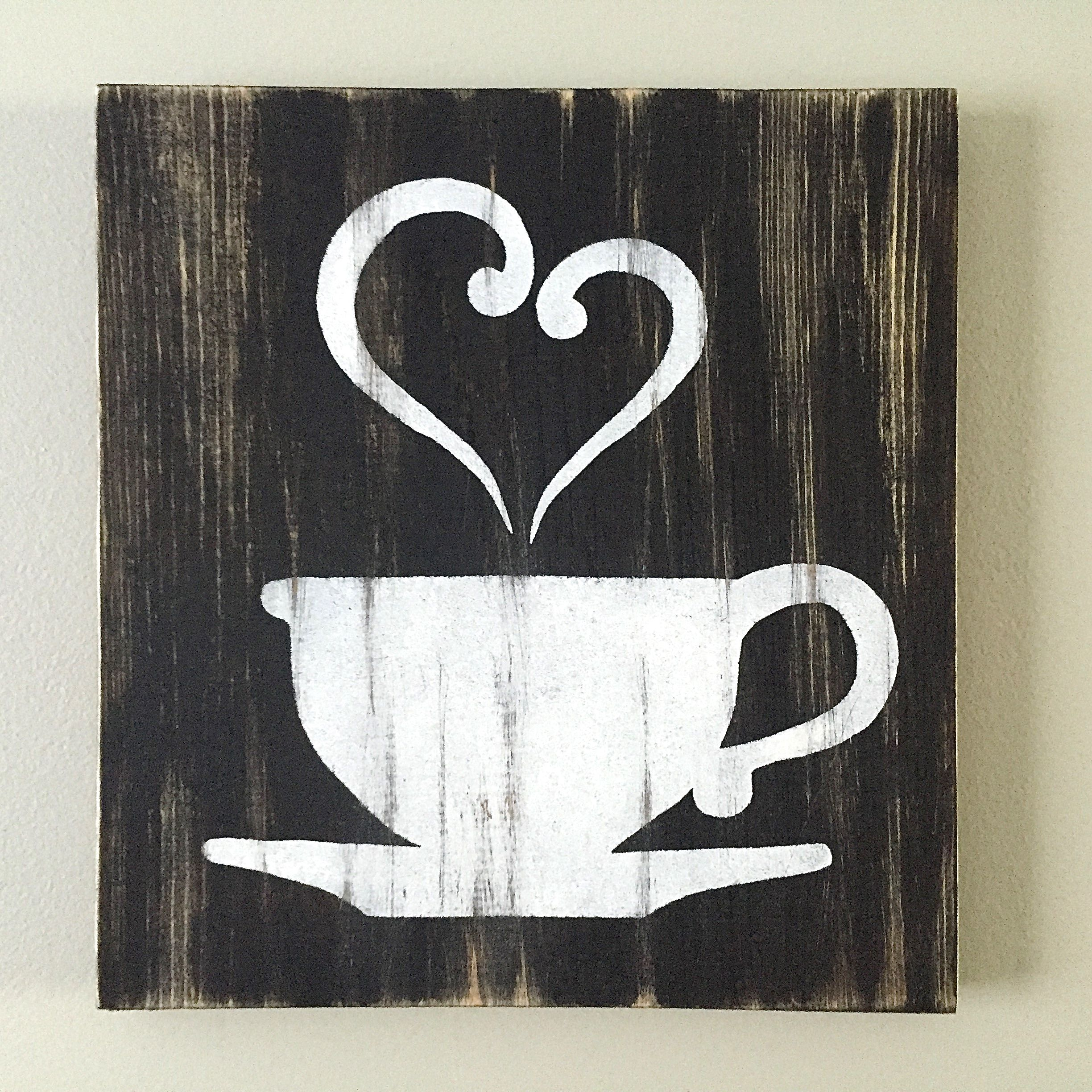 Kitchen decor coffee decor tea decor coffee cup for Kitchen wall art ideas
