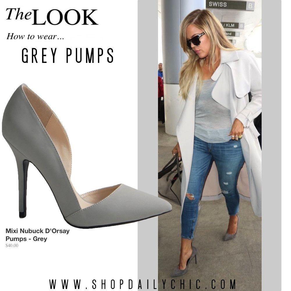 Outfit shoes, Fashion, Grey pumps
