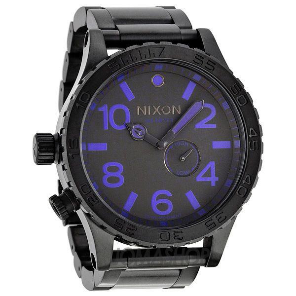 Nixon Steele Tops: Nixon 51-30 Tide Black Ion-Plated Stainless Steel Mens