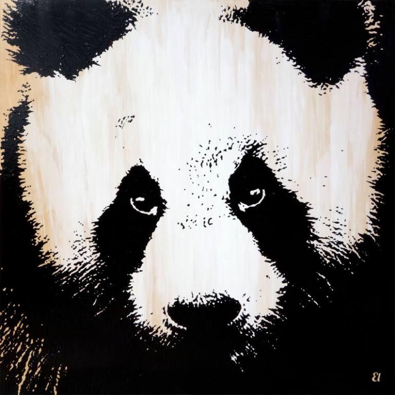 "Saatchi Art Artist Erick Laubach; Painting, ""Pandamonium"" #art"