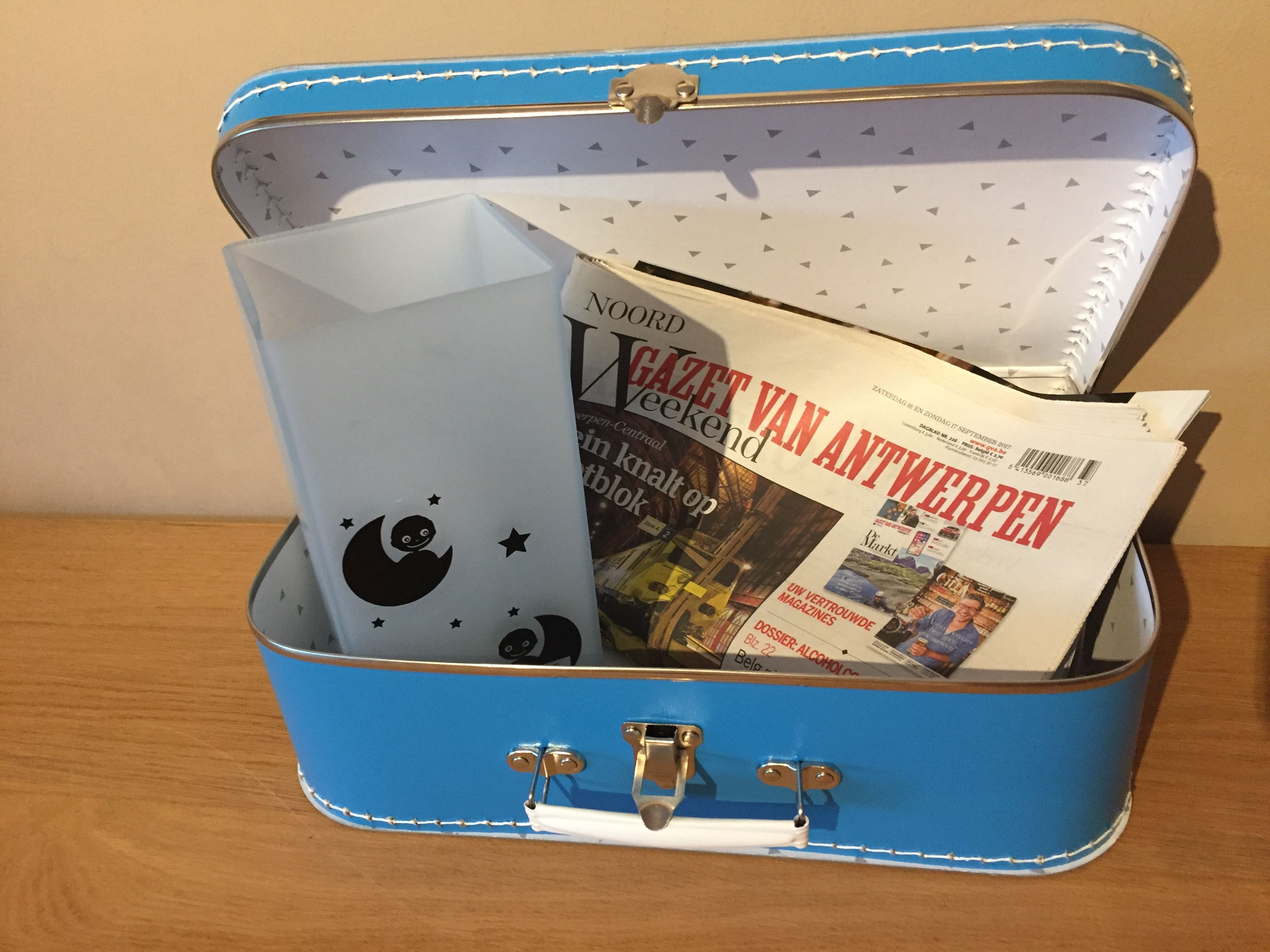 Geboorte Pakket Koffertje En Lamp Gepersonaliseerd Aan De