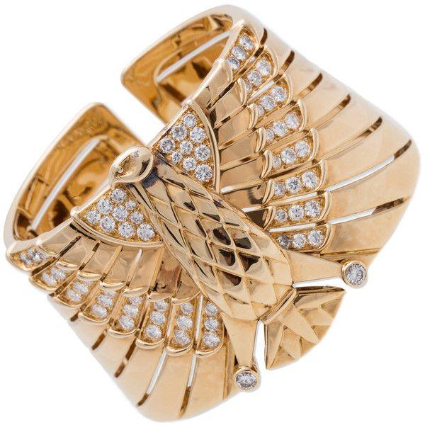 Preowned Cartier Egyptian Revival Bracelet 193310 BRL liked on