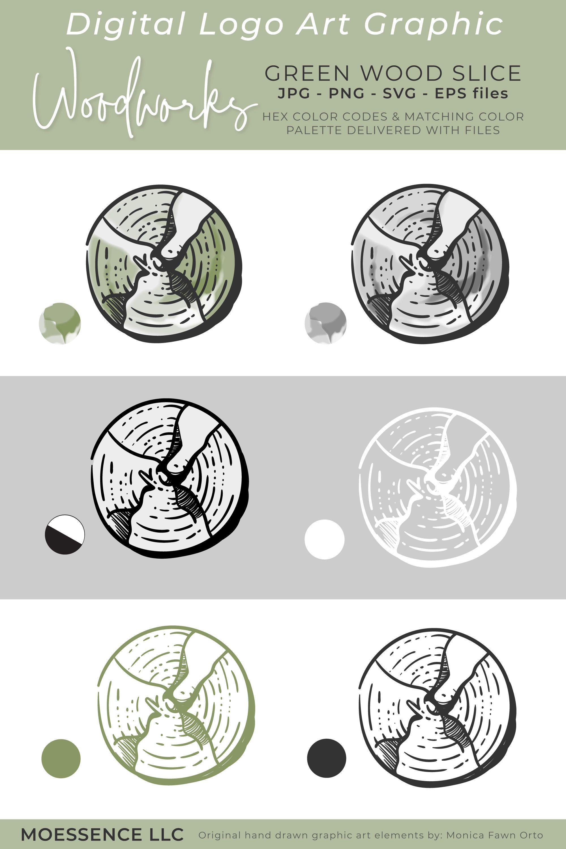 Green Woodworks - Logo Mark — MOESSENCE | Wood logo, Logo graphic ...